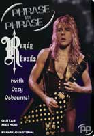 Mark John Sternal – Phrase By Phrase Guitar Method: Randy Rhoads