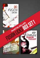 Martin Miller – Fusion Licks Box Set 1
